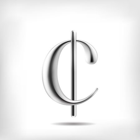 streamlined: Vector metal alloy currency sign. High detailed mesh Object Illustration