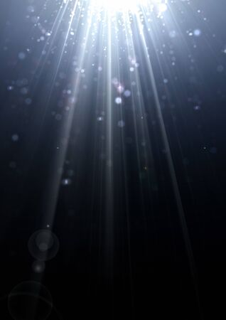 light  beam: Bright sparkling light beam with lens flare effect and light diffraction Stock Photo