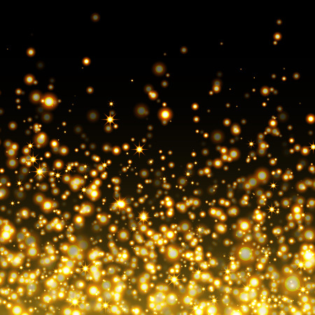 yellow black: Vector gold glittering sparkle stardust background