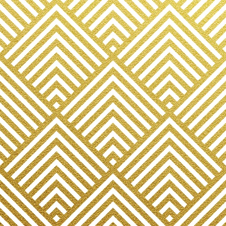 Geometric gold glittering seamless pattern on black background. Çizim