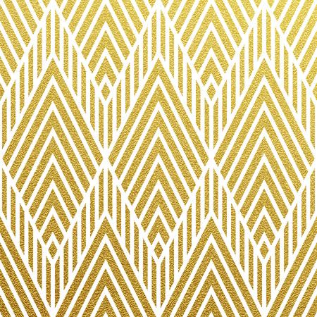 Geometric gold glittering seamless pattern on black background. Vettoriali