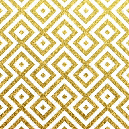 seamless geometric: Geometric gold glittering seamless pattern on black background. Illustration