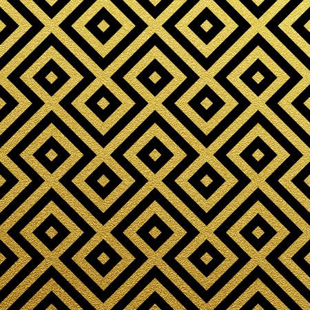 Geometric gold glittering seamless pattern on black background. 일러스트