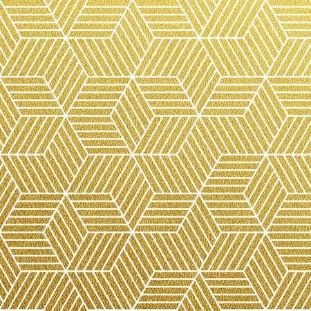 Geometrische goud glinsterende naadloze patroon op een witte achtergrond.