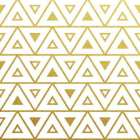 Geometrisch gold glitzernden nahtlose Muster auf weißem Hintergrund.