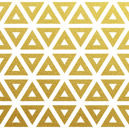 Geometric gold glittering seamless pattern on white background. 矢量图像