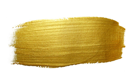 golden texture: Gold paint brush stroke. Abstract gold glittering textured art illustration. Stock Photo