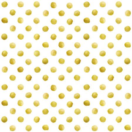 white gold: Gold glittering polka dot pattern on white background.