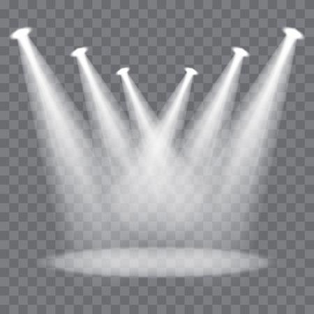 Światła: Etap Wektor spotlight belki na przezroczystym tle