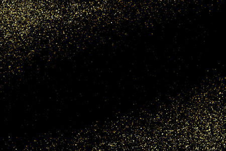 Vector gold glittering sparkle stardust space background