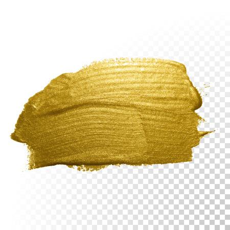 splash paint: Vector gold paint brush stroke. Abstract gold glittering textured art illustration.