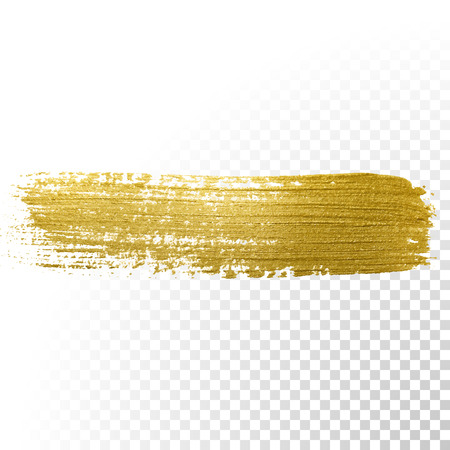 paint brush: Vector gold paint brush stroke. Abstract gold glittering textured art illustration.
