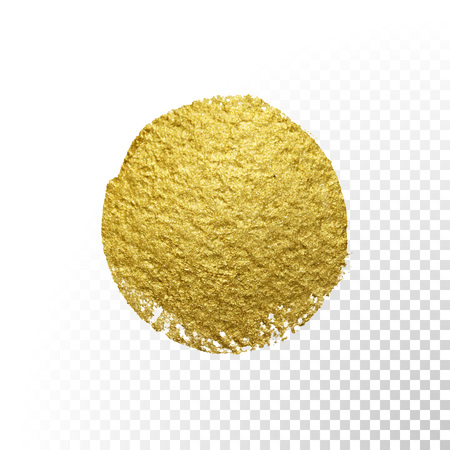 love gold: Vector gold paint brush circle stain. Abstract gold glittering textured art illustration.