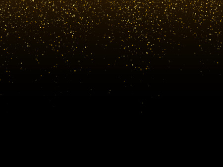 star dust: Vector gold glittering sparkle stardust space background