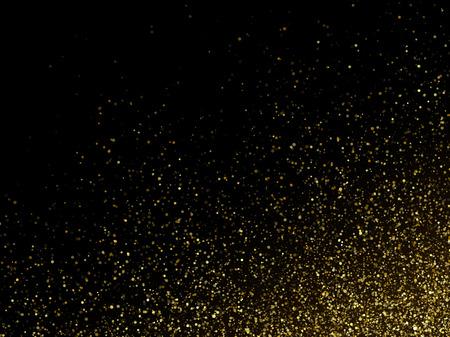 金きらびやかな輝きスターダストの空間の背景をベクトルします。