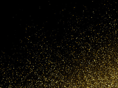 backdrop: Vector gold glittering sparkle stardust space background