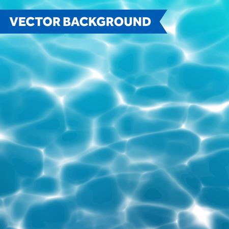 Vector acqua texture di sfondo con riflessi di luce solare Archivio Fotografico - 49602283