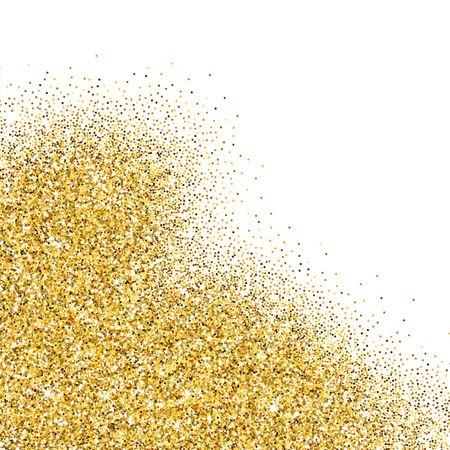 scattered on white background: Vector gold glittering abstract particles on white background Illustration