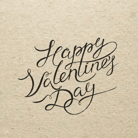 Spanish Valentines Day Card. Amor Calligraphy Lettering With ...