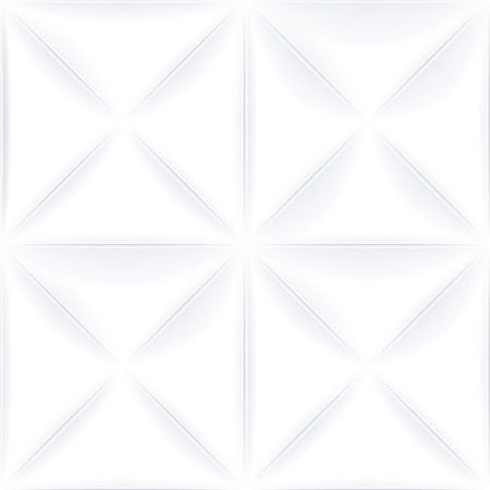 textured wall: White vector seamless background. Textured tile for graphic or website template layout. Interior wall decoration. 3D Vector interior wall panel pattern. Geometric triangle design. Illustration