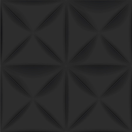 textured wall: Black vector seamless background. Textured tile for graphic or website template layout. Interior wall decoration. 3D Vector interior wall panel pattern. Geometric triangle design.