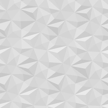 Vector fond blanc panneau. texture volumed Seamless pour la bannière ou site web mise en page du modèle. Intérieur décoration murale. 3D Vector pattern mur intérieur. conception de triangle géométrique.