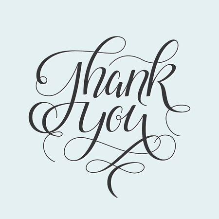 papel de notas: Gracias entregar letras adornadas de Acción de Gracias tarjeta de felicitación de la pluma caligráfica cero dibujado.