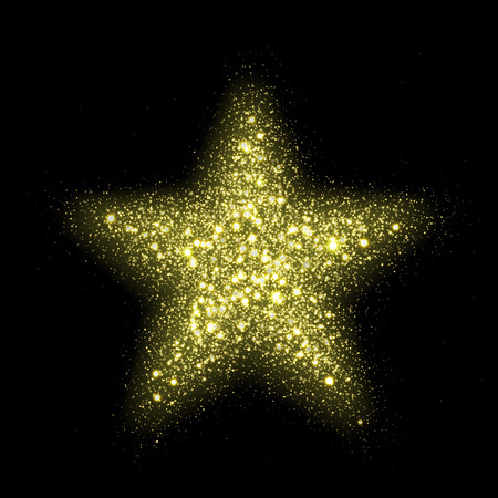 lensflare: Vector fashionable stars lensflare sparkles in space. Glittering shining particles in dark cosmic galaxy background