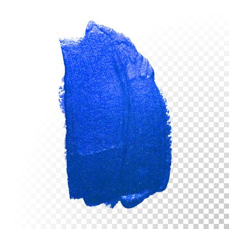 Profondo blu spazzola dell'acquerello ictus. forma astratta. Vector pittura ad olio striscio linea su sfondo trasparente