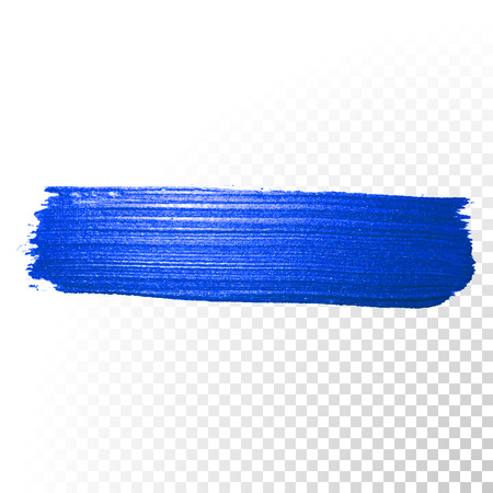 vector background: Deep blue watercolor brush stroke. Abstract shape. Vector oil paint smear line on  transparent background