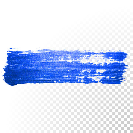 brush stroke: Deep blue watercolor brush stroke. Abstract shape. Vector oil paint smear line on transparent background