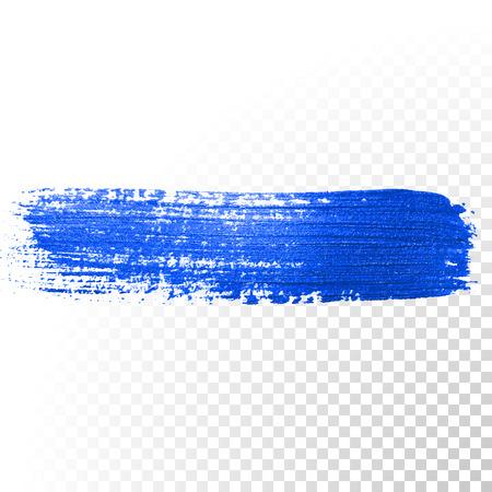 Deep blue Aquarell Pinselstrich. Abstrakte Form. Vector Ölfarbe verschmieren Linie auf transparentem Hintergrund