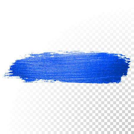 Deep blue watercolor brush stroke. Abstract shape. Vector oil paint smear line on transparent background Zdjęcie Seryjne - 52540553