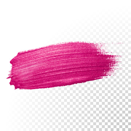 watercolor smear: Vector pink watercolor brush stroke. Polish splash line trace. Abstract shape red oil paint smear on transparent background.