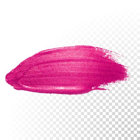 Vector roze aquarel penseelstreek. Poolse splash lijn trace. rode olie verf vlek abstracte vorm op transparante achtergrond.