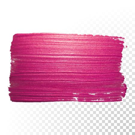 Wektor różowy akwarela pędzla udar. Streszczenie polskie kształt śladu powitalny. Czerwona linia wymaz farby olej na przezroczystym tle Ilustracje wektorowe
