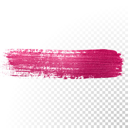 watercolor smear: Vector pink watercolor brush stroke. Abstract polish splash trace shape. Red oil paint smear line on transparent background
