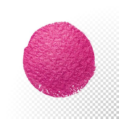 watercolor smear: Vector pink watercolor brush blob stroke. Abstract polish splash circle shape. Purple oil paint blot smear on transparent background Illustration
