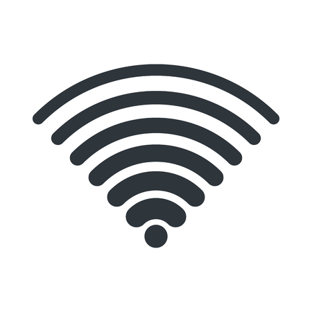 wifi: WIFI icon for signal connection symbol. Vector Illustration design.