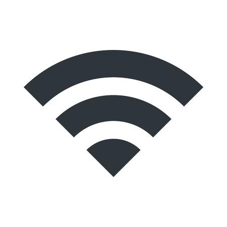 icona Wi-Fi per il collegamento simbolo del segnale. illustrazione vettoriale di progettazione. Vettoriali