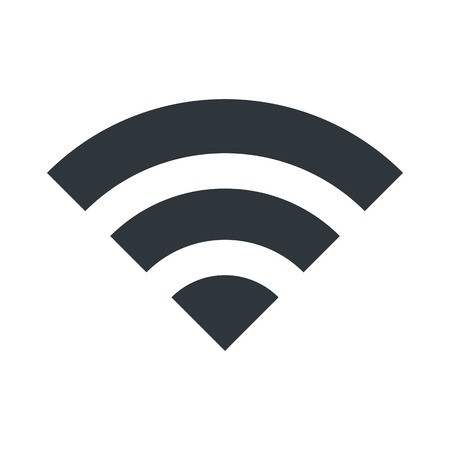 wireless signal: WIFI icon for signal connection symbol. Vector Illustration design.