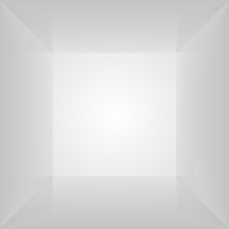 lightbox: Vector box inside. Empty interior space. Photobox lightbox illustration.