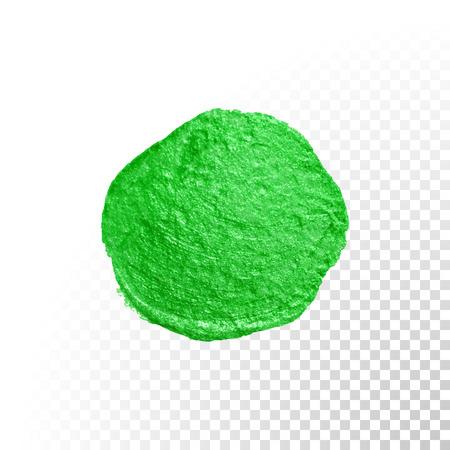 blob: Vector green watercolor glitter brush blob stroke. Abstract polish splash circle. Emerald oil paint blot smear on transparent background