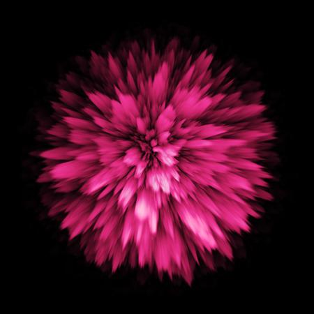 Couleur de la poudre de poussière splash explosion d'une explosion explosion. Colorful éclaboussures de peinture au pistolet. diffusion de la craie rose. Banque d'images