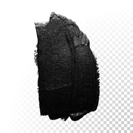 tar: Ink black watercolor brush stroke. Polish splash line trace. Abstract shape oil tar paint smear dab on transparent background. Illustration