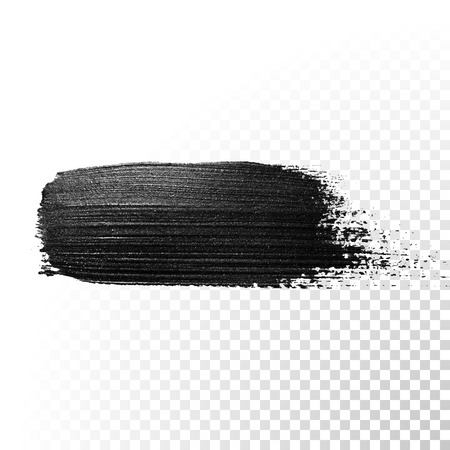 gouache: Black watercolor brush stroke. Highlighter marker glossy dab. Abstract oil paint polish splash trace. Gouache stroke.