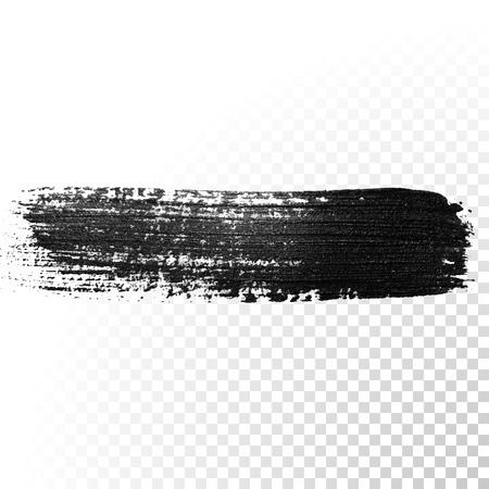 Black aquarel penseelstreek. Markeerstift glossy deppen. Abstracte olieverf polish splash spoor. Gouache beroerte. Stock Illustratie