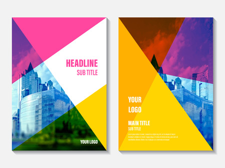 booklet: Vector Annual Report cover design. Corporate business template for leaflet, brochure and flyer. Business booklet for catalog, website, advertising and presentation.