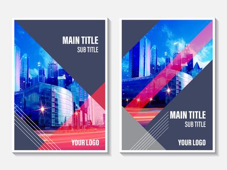 ベクトル アニュアル レポート カバー デザイン。リーフレット、パンフレット、チラシの企業テンプレートです。カタログ、ウェブサイト、広告、