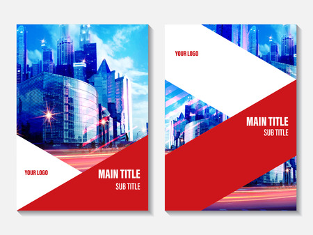 magazine design: Vector Annual Report cover design. Corporate business template for leaflet, brochure and flyer. Business booklet for catalog, website, advertising and presentation.